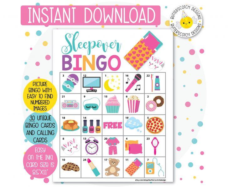 Printable Spa Bingo Cards