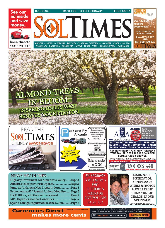 Sol Times Newspaper Issue 223 Costa Almerica Edition