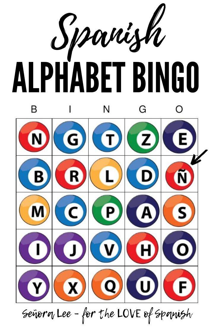 Spanish Alphabet Bingo | Spanish Alphabet, Alphabet Bingo