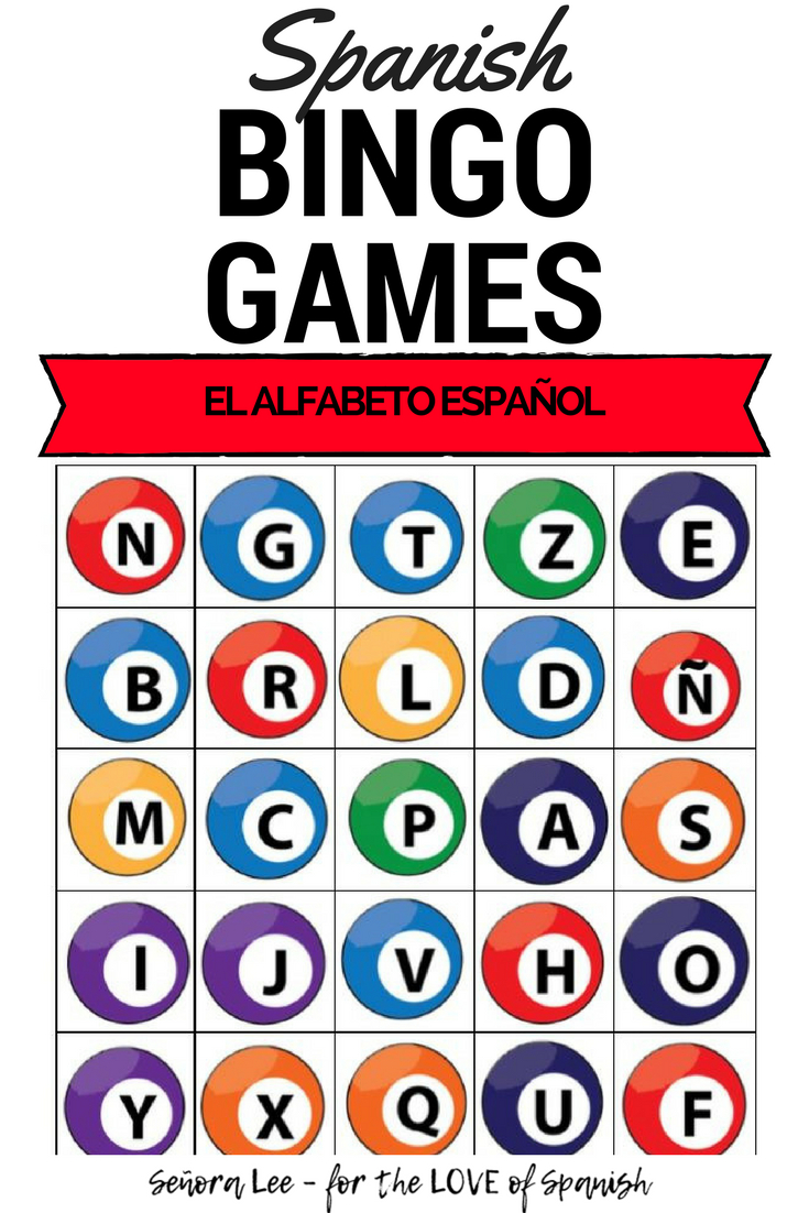 Spanish Bingo - Alphabet - El Alfabeto Español | Middle