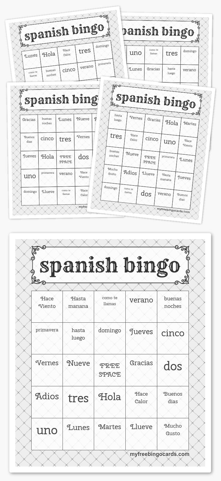 Spanish Bingo | Harry Potter Party, Free Printable Bingo