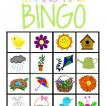 Springtime Bingo Printable Game. Next Years Spring Preschool