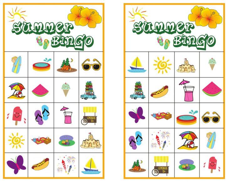 Summer Bingo Cards Printable