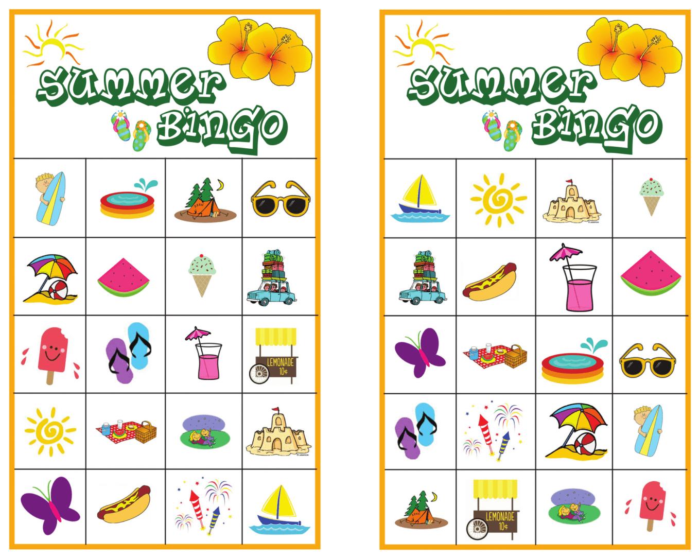 Summer Bingo Game With Free Printables | Bingo, Bingo Games