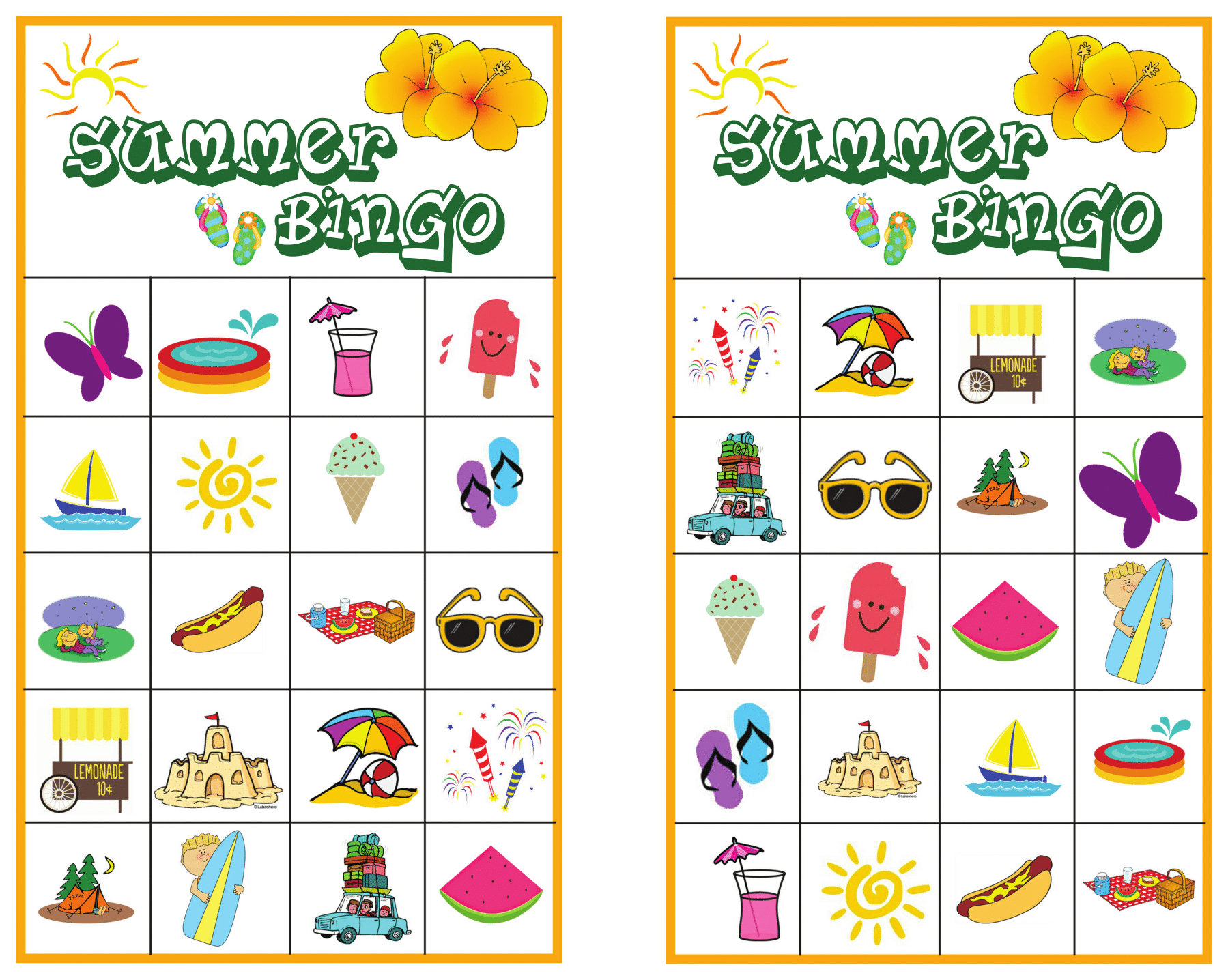 Summer Bingo Game With Free Printables | Bingo Games Free