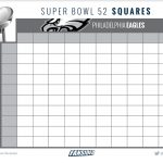 Super Bowl 52 Bingo And Squares