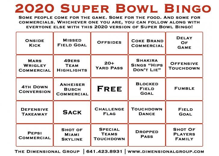 40 Printable Super Bowl Bingo Cards