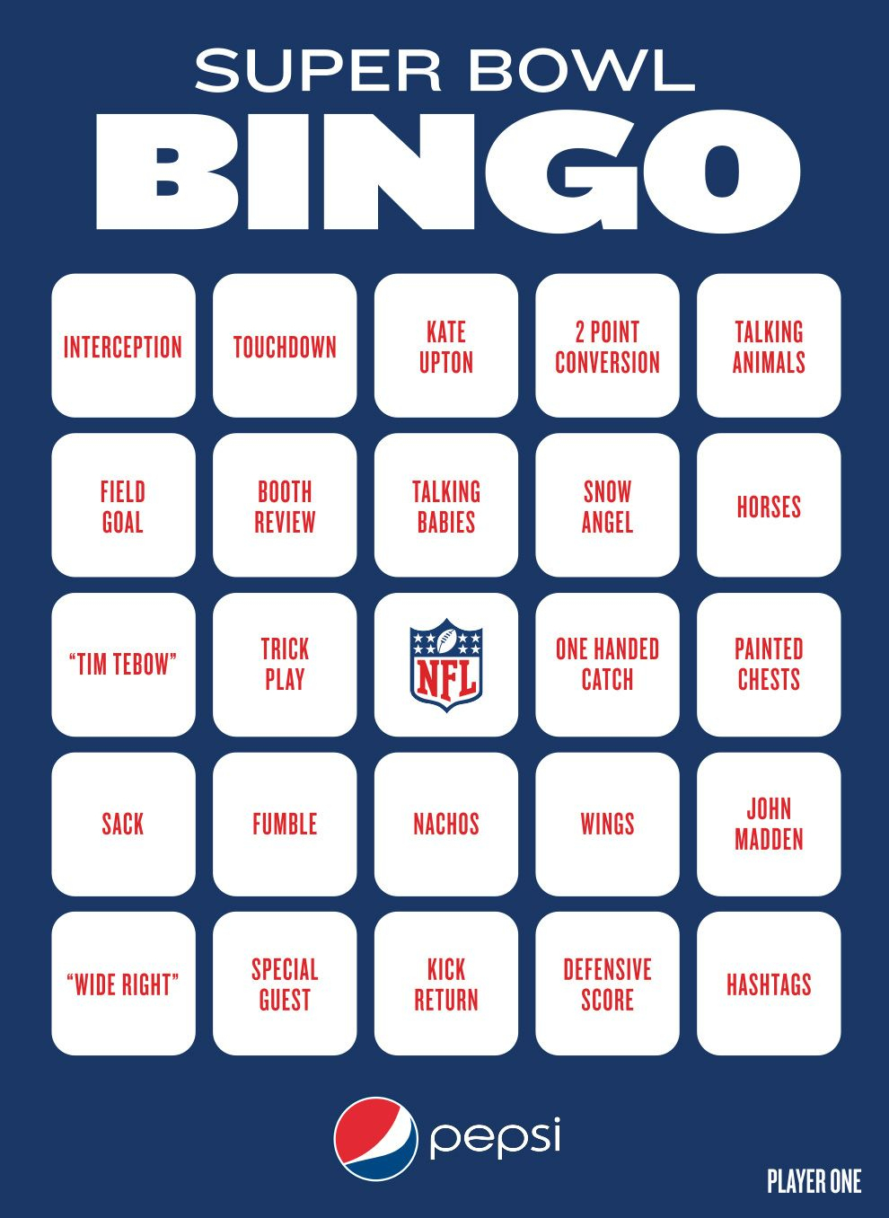 Super Bowl Bingo To Play During The Big Game (With Images