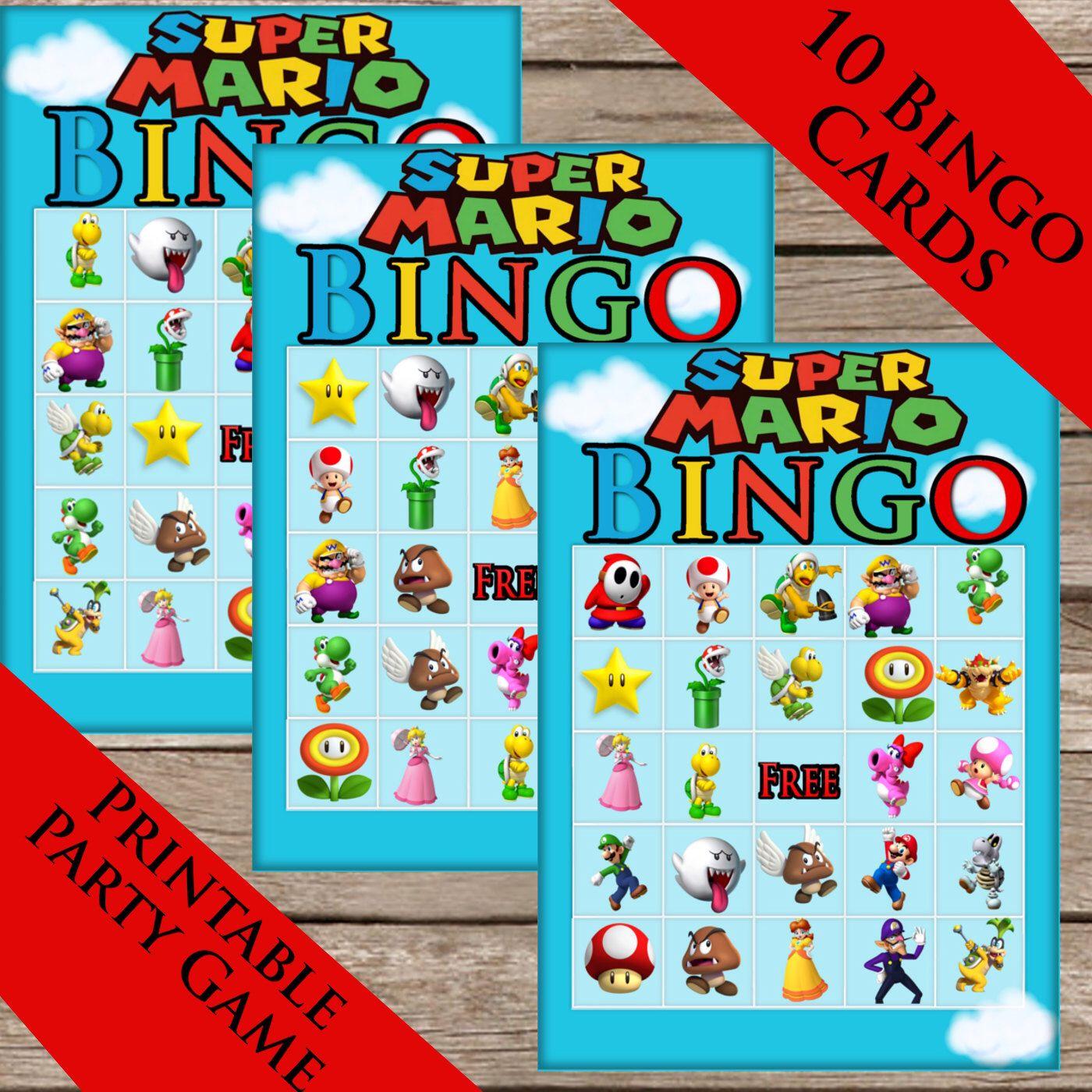 Super Mario Bros. Bingo! 10 Extra Cards! Digital Download