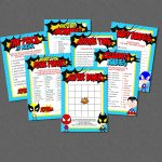 Superhero Baby Shower Game Pack   Instant Download   Super