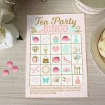 Tea Party Bingo Game   Diy Bingo Cards Printable With 20 Unique Game Cards    Baby Shower Bridal Shower Birthday Party   Instant Download