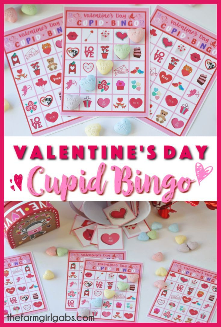 These Free Valentine's Day Cupid Bingo Cards Are Perfect For