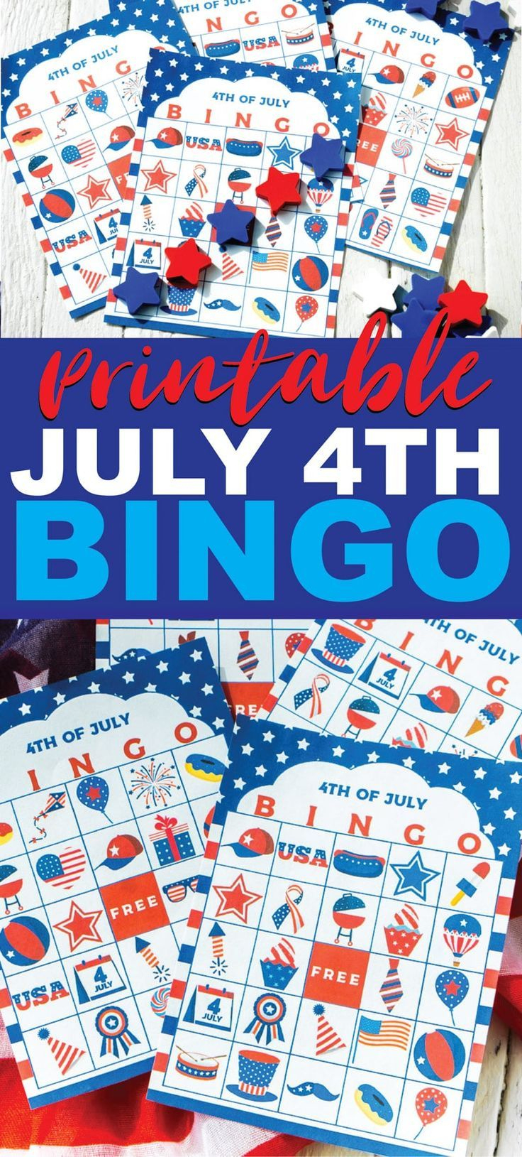 This 4Th Of July Bingo Game Is Perfect For Kids, For Adults