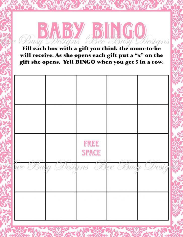 Printable Blank Baby Shower Bingo Cards Free
