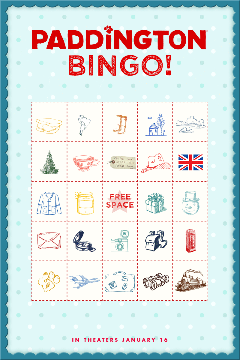 Time To Play Paddington Bingo! Print Out A Free Bingo Card