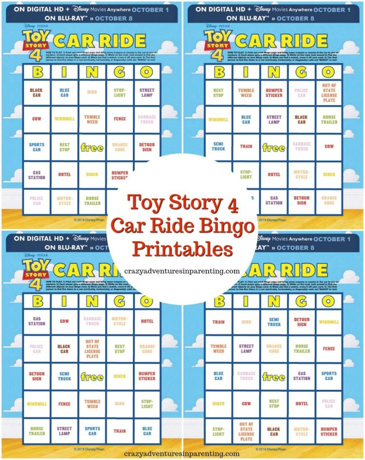 Toy Story Bingo Cards Printable