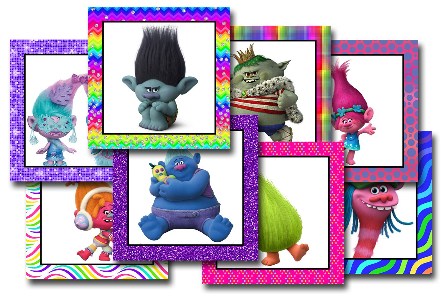 Trolls Free Printable Bingo Cards - Trolls Birthday Party