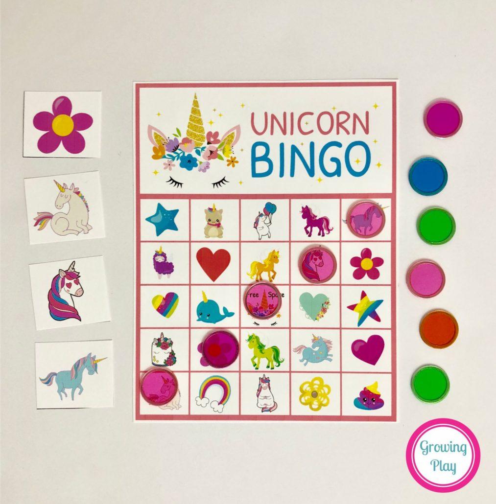 Unicorn Bingo Party Printable - Instant Download