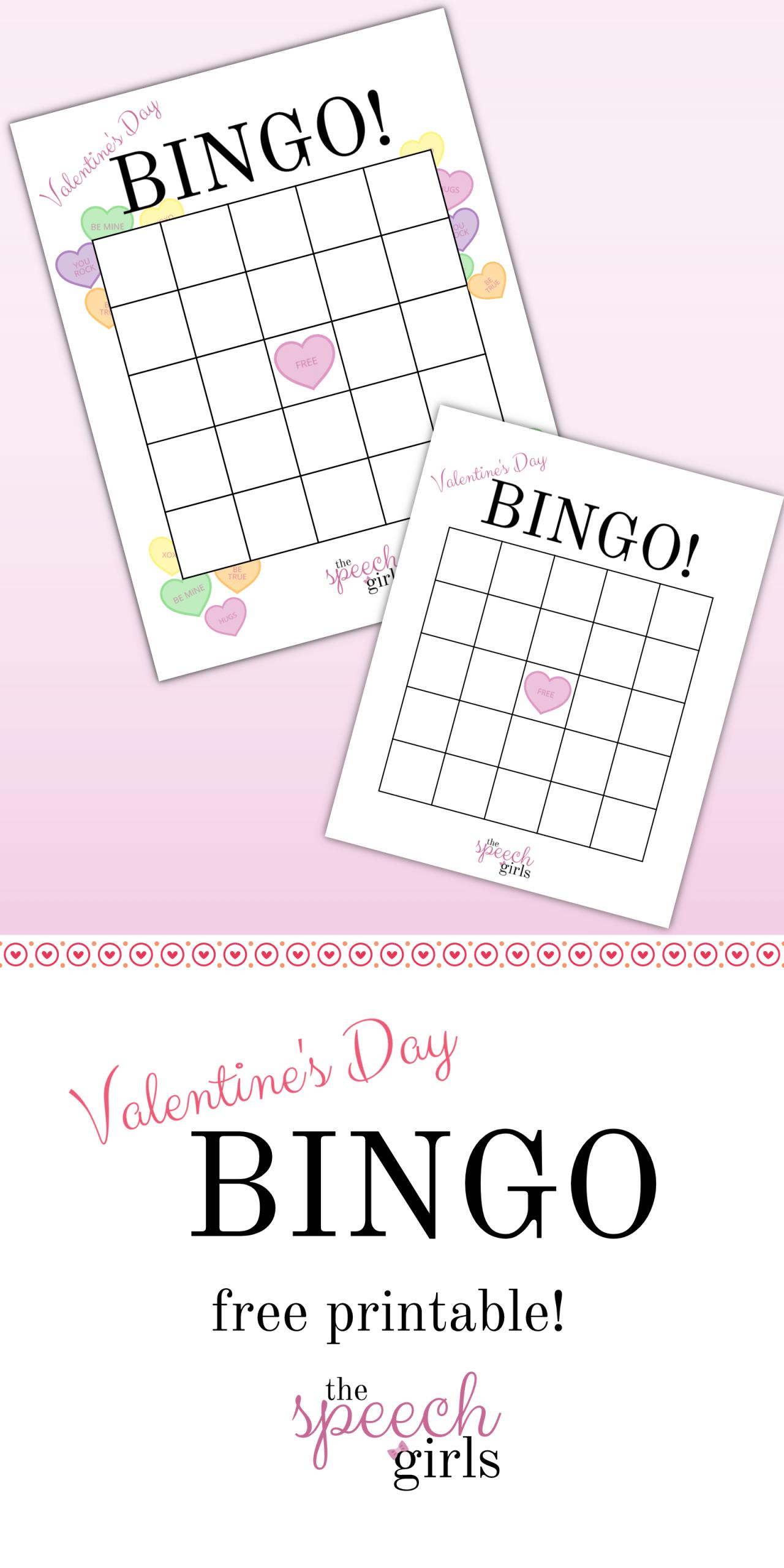 Valentine's Day Bingo | Blank Bingo Cards, Valentine Bingo