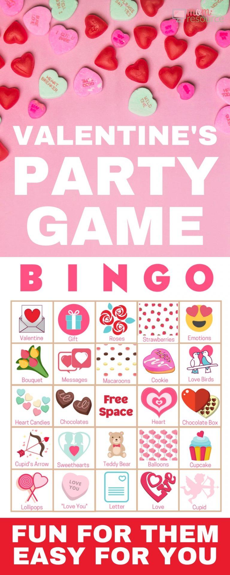 Valentine's Day Bingo Cards - Easy To Play, Modern & Fun