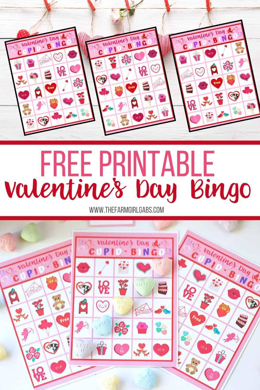 Valentine's Day Cupid Bingo - The Farm Girl Gabs®