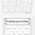 Wedding Speech Bingo | Free Printable Bingo Cards, Bingo