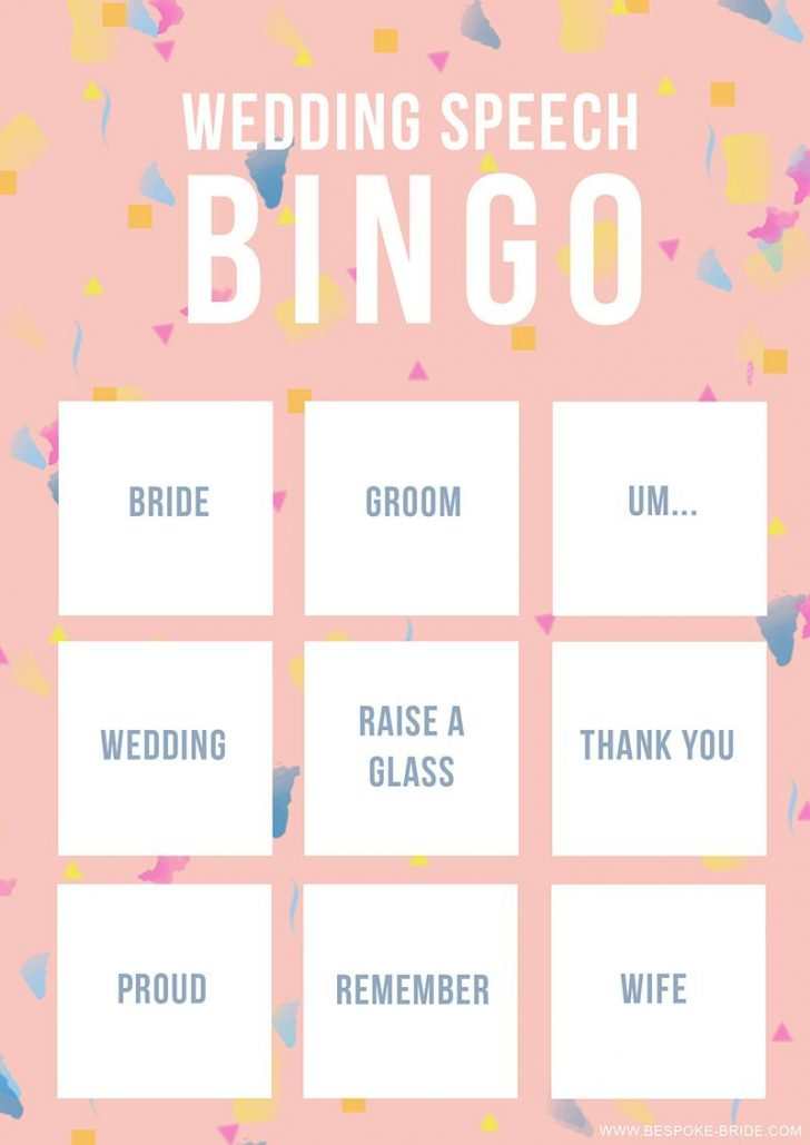 Free Printable Wedding Bingo Cards