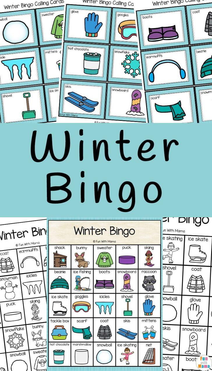 Winter Bingo Cards Printable