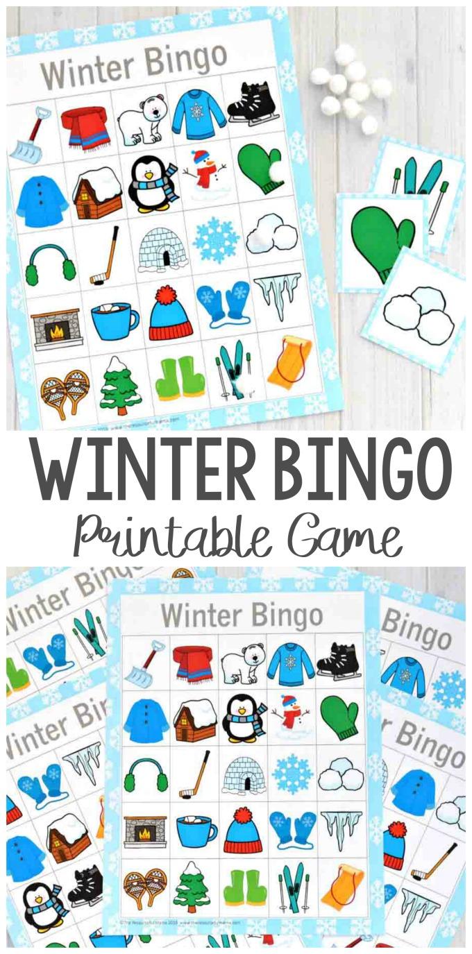 Winter Bingo Game - Winter Activiteiten, Winter Knutselen En