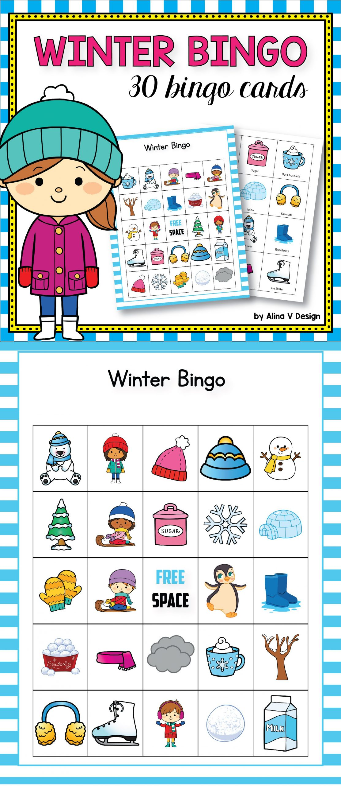 Winter Bingo Game - Winter Activities For Kindergarten