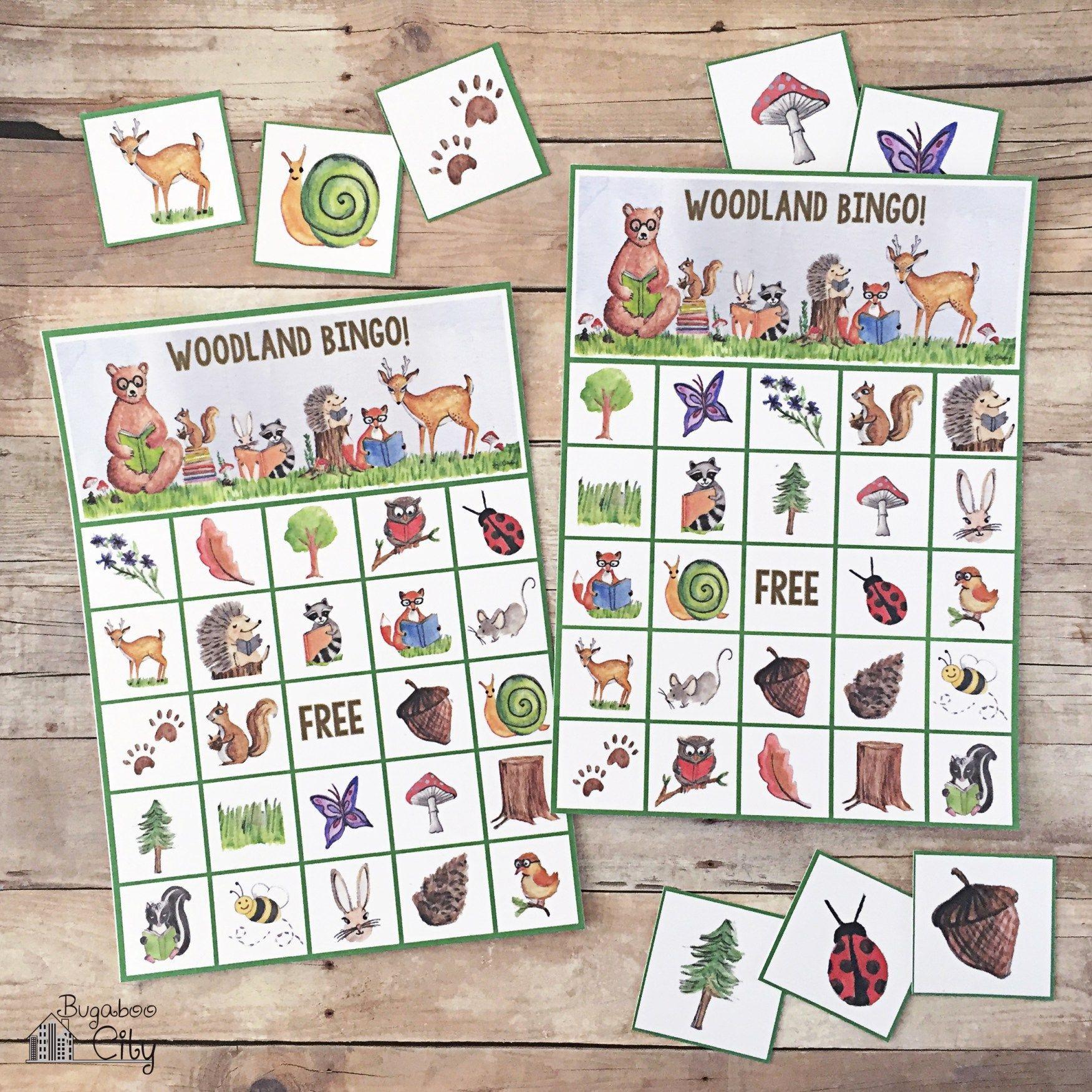 Woodland-Bingo-Forest-Animals-Free-Printable | Bingo