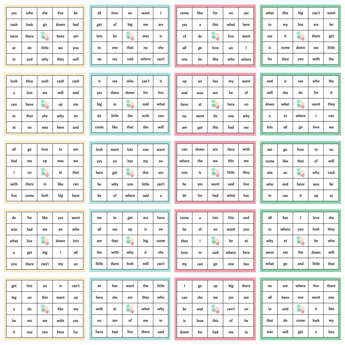 Word Bingo Worksheets | Printable Worksheets And Activities