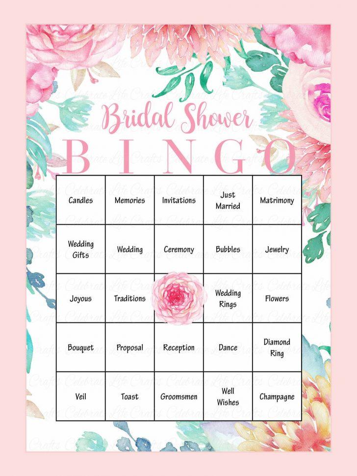 Bridal Bingo Free Printable Cards