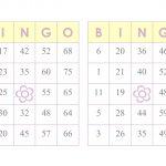 1000 Bingo Cards, 2 Per Page, Immediate Pdf Download, Yellow
