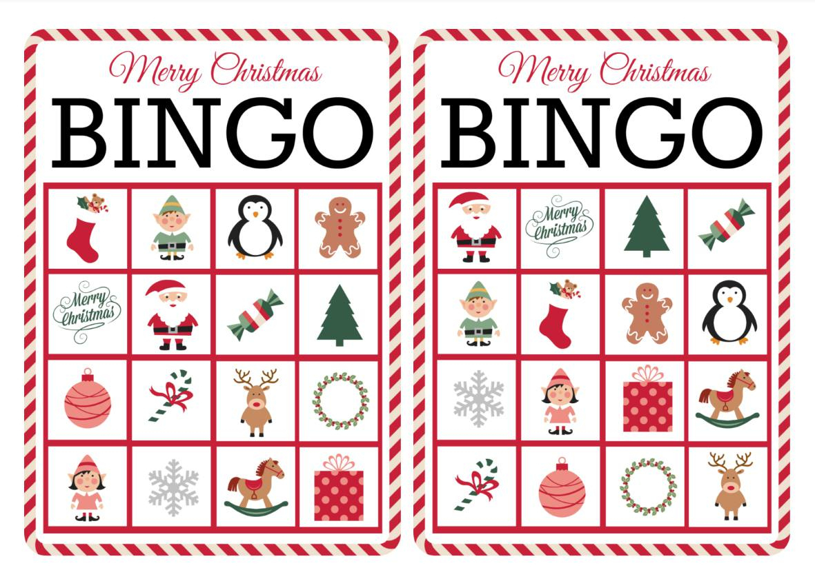 11 Free, Printable Christmas Bingo Games For The Family