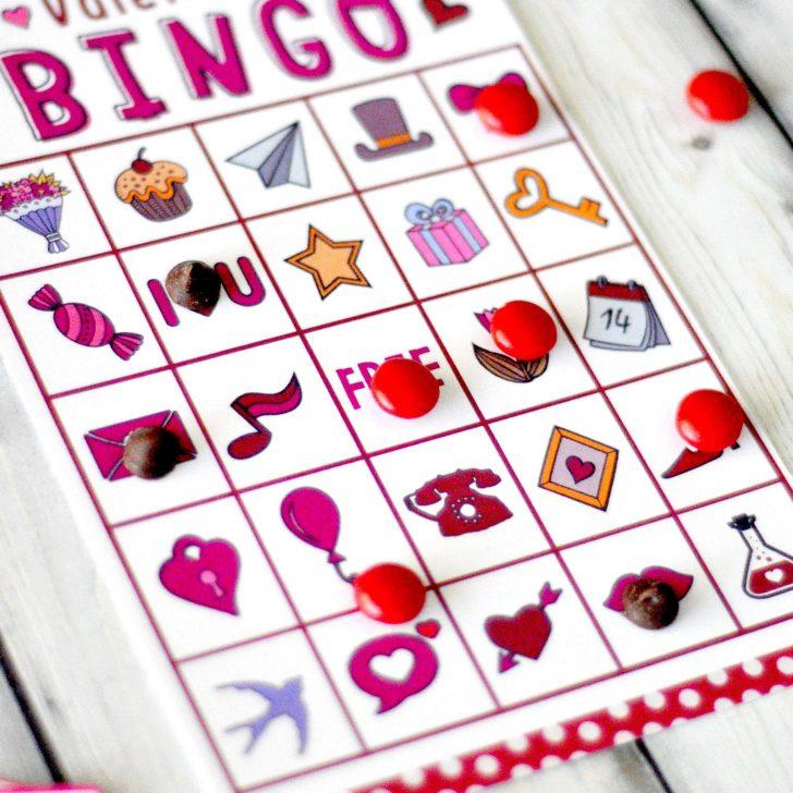 Free Printable Valentine Bingo Cards For Kindergarten