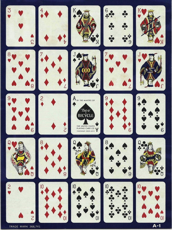 2 Vintage Pokeno Cards Paper Ephemera Mixed