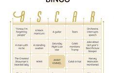 2018 Oscars Bingo Cards | Canadian Living