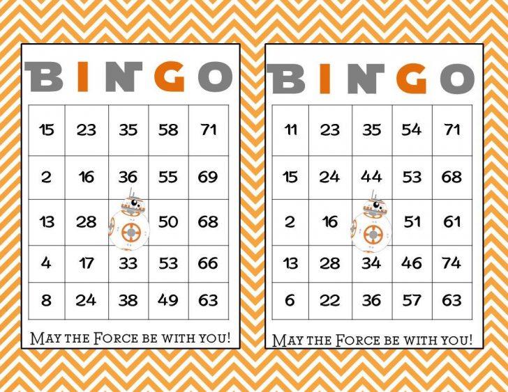 Printable Star Wars Bingo Cards