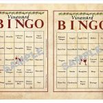 30 Printable Vineyard Bingo Cards, Instant Download, Wine