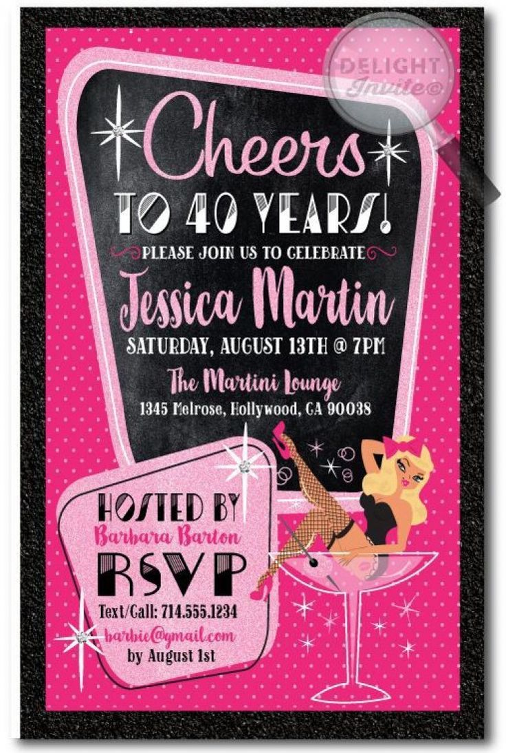 40Th Birthday Woman Saying | 40Th Birthday Invitations, 40Th
