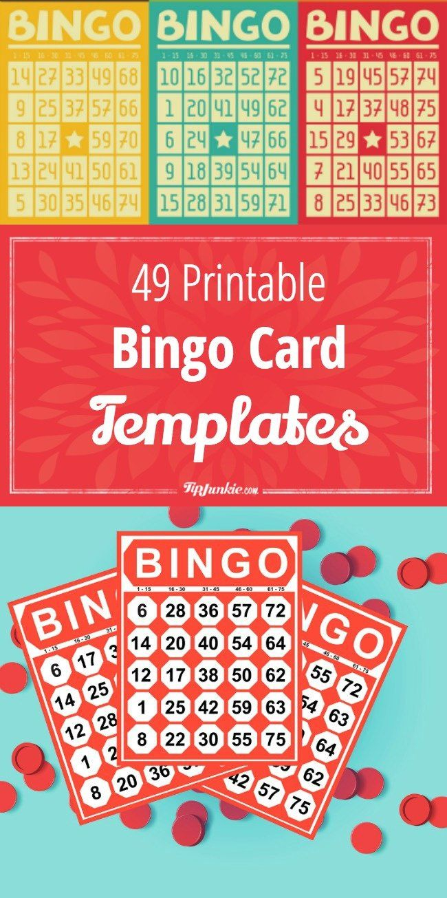 Printable Bingo Cards For Large Groups