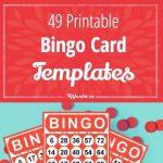 49 Printable Bingo Card Templates   Bingo Card Template