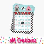 50S Diner Bingo Cards 24   1950S Printable Bingo Card   50S Printable Party  Game   Birthday Party Baby Shower Game  Instant Download   Pdf