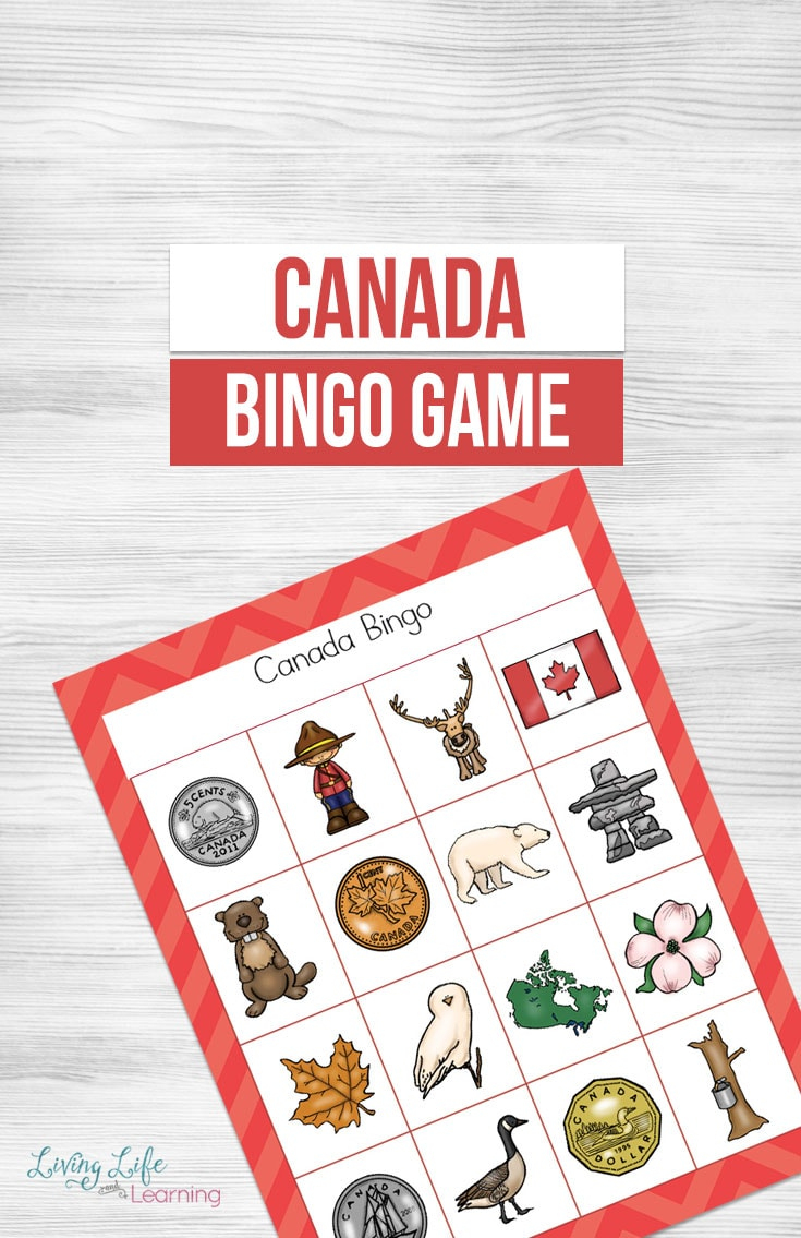 A Fun Printable Canada Bingo Game For Kids To Learn About