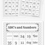 Abc's And Numbers Bingo   Free Printable Bingo Cards, Bingo