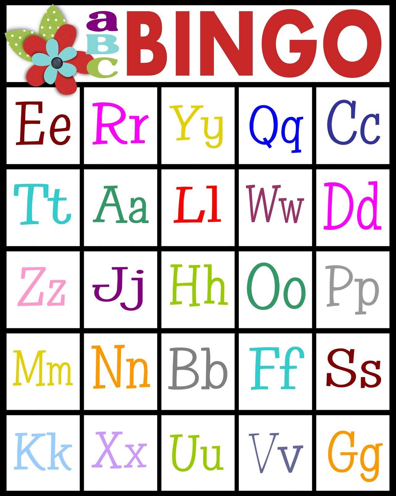 Abc's Bingo- Free Printable! | Teaching Letter Recognition