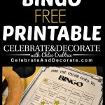 Academy Awards Party Bingo Free Printables | Hollywood