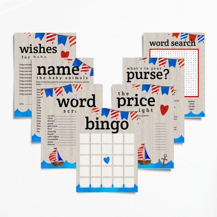 Printable Ahoy Baby Bingo Cards