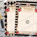 Alice In Wonderland Bingo. Party Games. Baby Bingo. Bingo